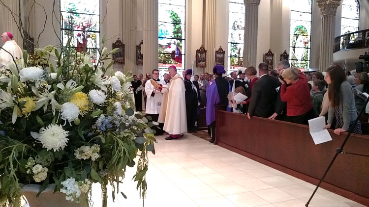 The Procession of the Installation Mass at the Cathedral of the Immaculate Conception in Kansas City,November 4, 2015