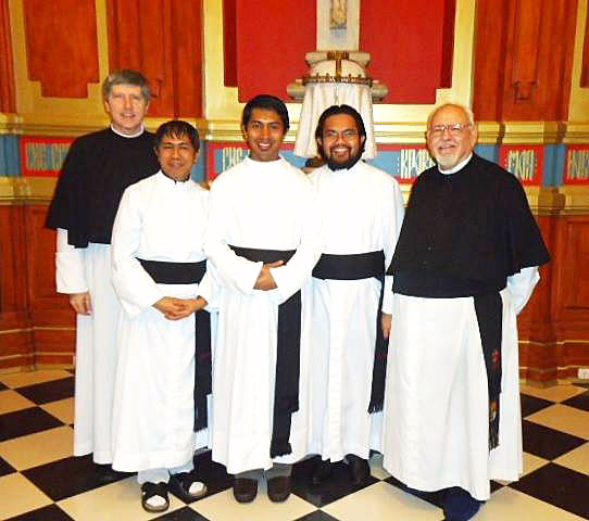 The Canons Regular -five priests and seminarians